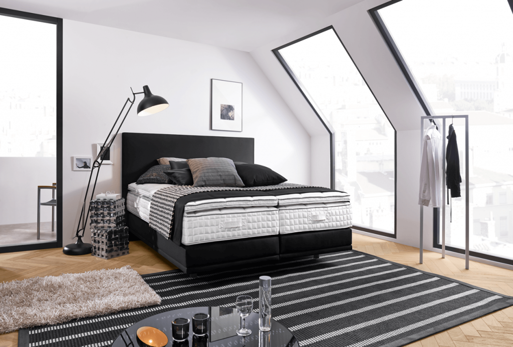 boxspring ist mehr als ein trend. Black Bedroom Furniture Sets. Home Design Ideas